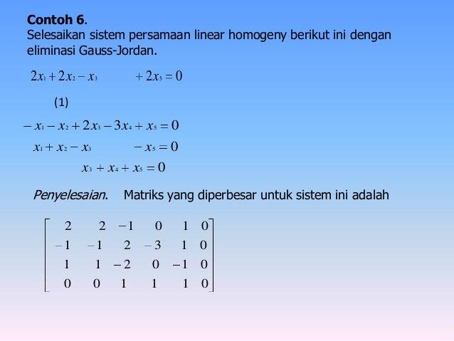 Contoh Soal Eliminasi Gauss Soal Soal