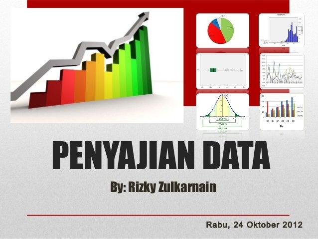 PENYAJIAN DATA   By: Rizky Zulkarnain                     Rabu, 24 Oktober 2012