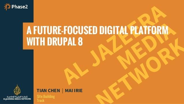 AL JAZEERA TIAN CHEN | MAI IRIE Site Building Track MEDIA ETWORK A FUTURE-FOCUSED DIGITAL PLATFORM WITH DRUPAL 8