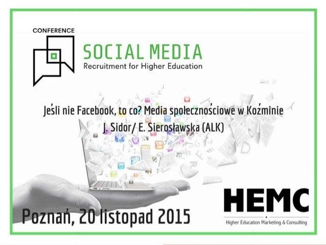 Jeśli nie Facebook, to co? Media społecznościowe w Koźminie
