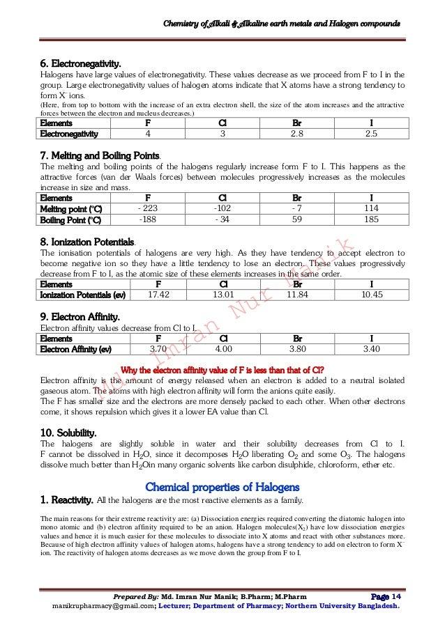 chemistry of alkali alkaline earth metals