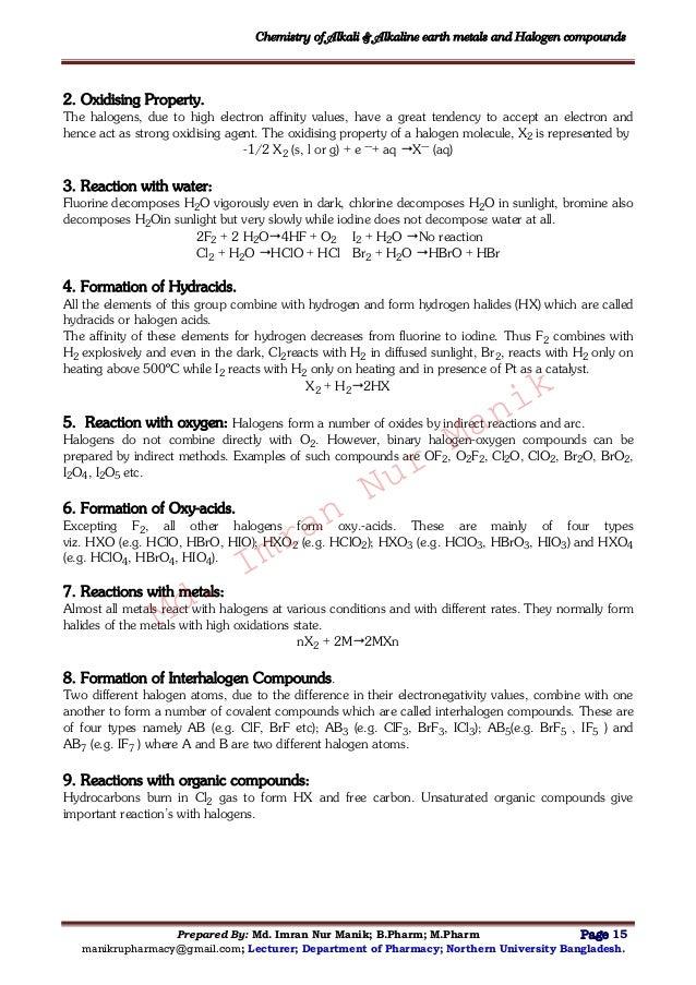 ... 16. Chemistry Of Alkali U0026 Alkaline Earth Metals ...