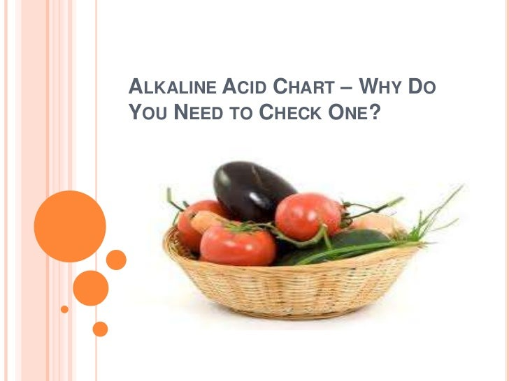 ALKALINE ACID CHART – WHY DOYOU NEED TO CHECK ONE?