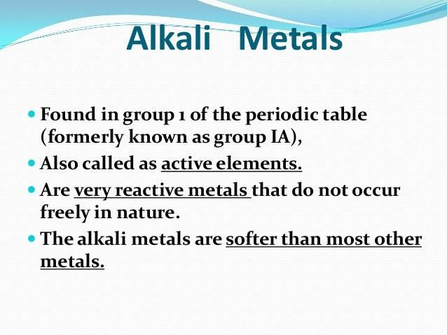 Alkaline and alkaline earth metals alkali metals properties urtaz Images