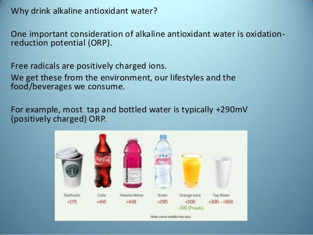 Alkaline Antioxidant Water