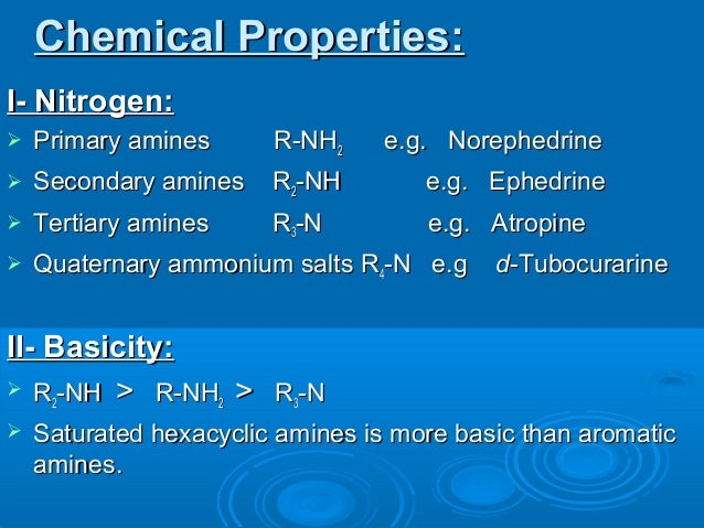 physical and chemical properties of alkaloids pdf