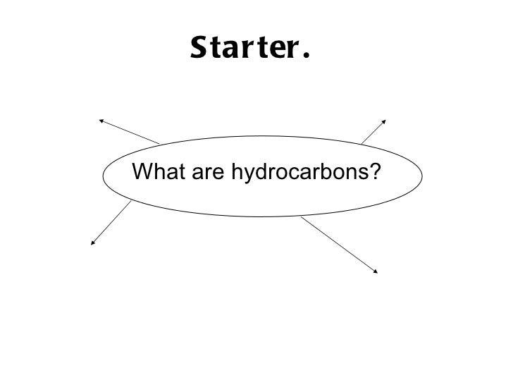 Starter.   <ul><li>What are hydrocarbons? </li></ul>