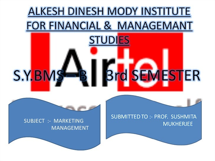 SUBJECT  :-  MARKETING  MANAGEMENT
