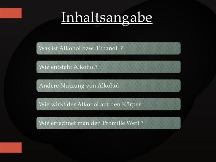 Referat Alkohol