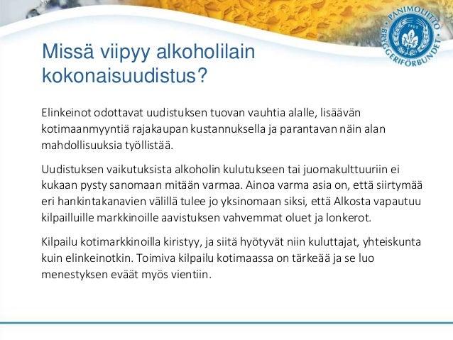 Missä viipyy alkoholilain kokonaisuudistus? Elinkeinot odottavat uudistuksen tuovan vauhtia alalle, lisäävän kotimaanmyynt...