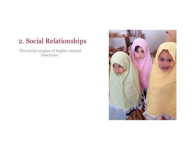 2. Social Relationships The social origins of higher mental functions.