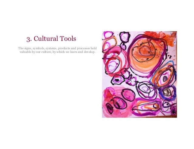 3. Cultural Tools The signs, symbols, systems, products and processes held valuable by our culture, by which we learn and ...