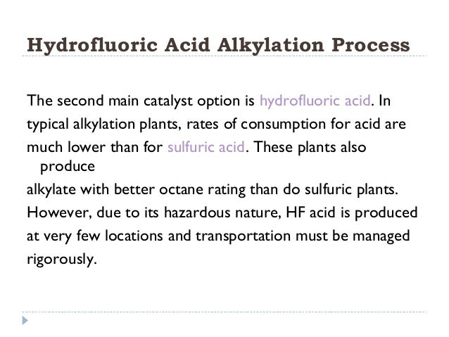 hf alkylation process profile essay