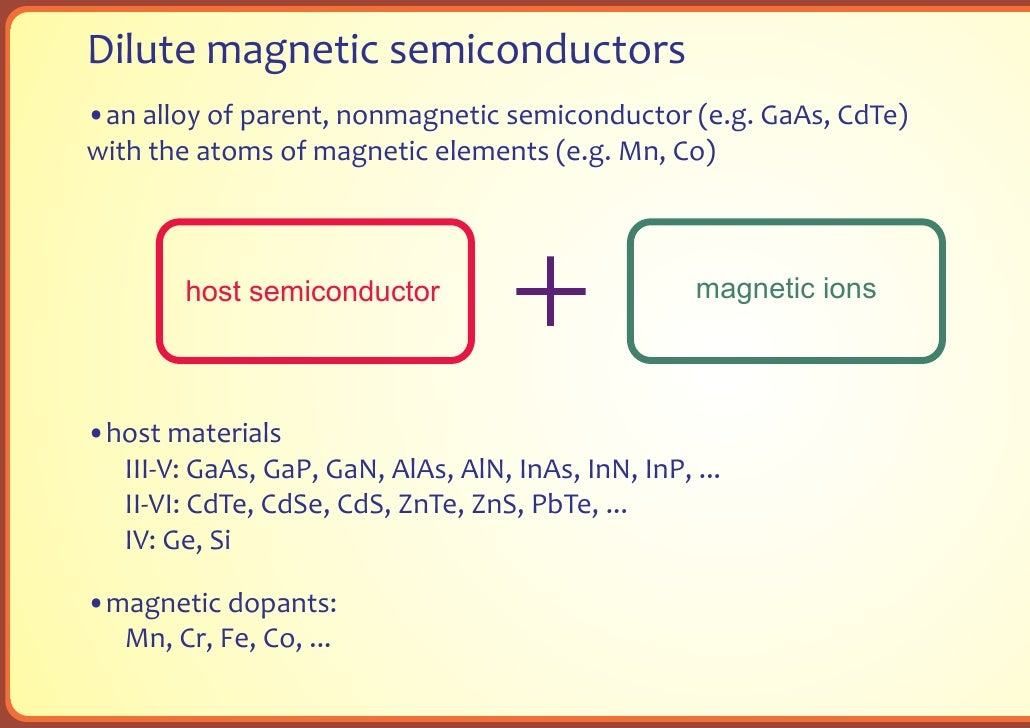 dilute magnetic semiconductor thesis Home → research collections → dissertations and theses (phd and   transition metal-doped sb2te3 and bi2te3 diluted magnetic semiconductors   the study of the transition metal (tm) doped tetradymite-type semiconductors  was.
