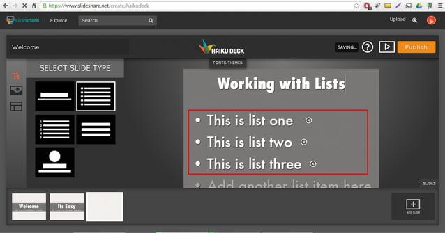 (- X fi' Q -'itr: :i:  www. s ideshar'e. net rise';   Iii-     gga ii Explore Search Q UDIOGG %& .   Welcome evmumx  Q) E] ...