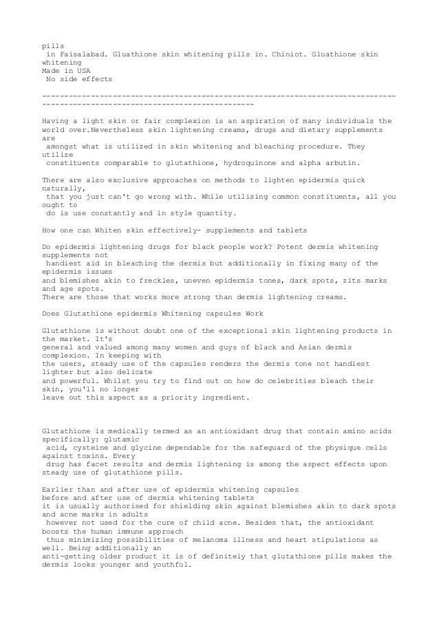 glutathione investigation paper
