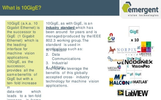 Its All About 10 GigE Vision!