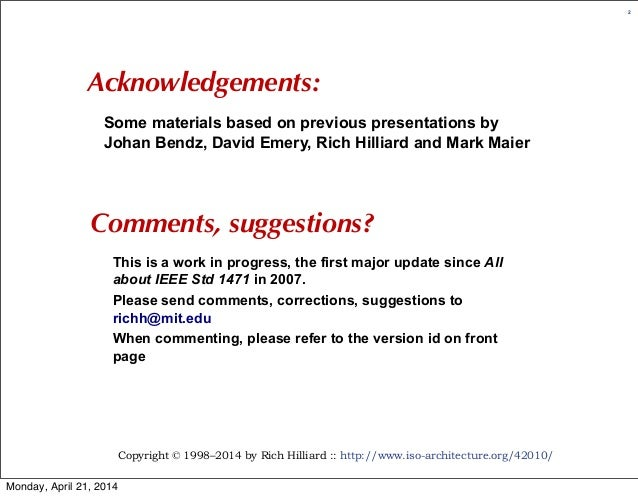 All about ISO/IEC/IEEE 42010 (r5) Slide 2