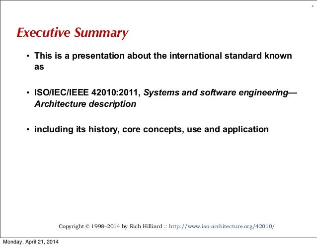 All about ISO/IEC/IEEE 42010 (r5) Slide 3