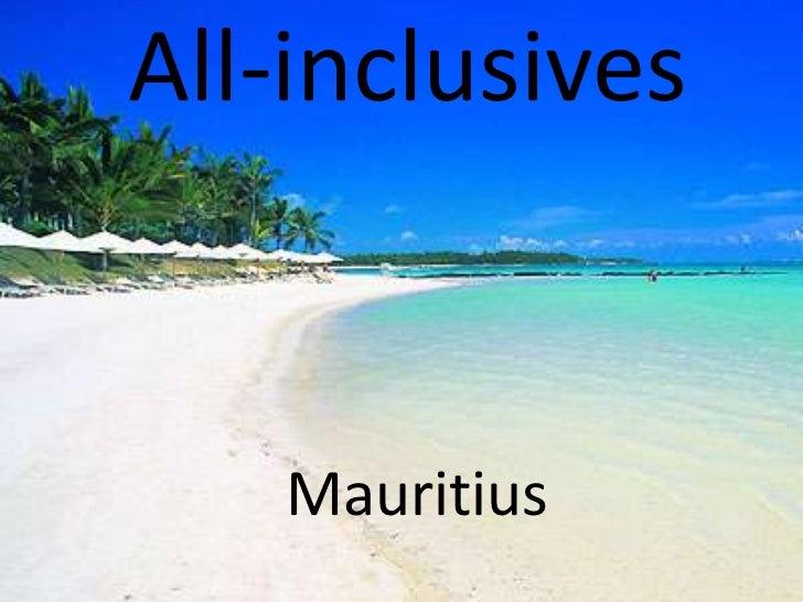 All-inclusives   Mauritius