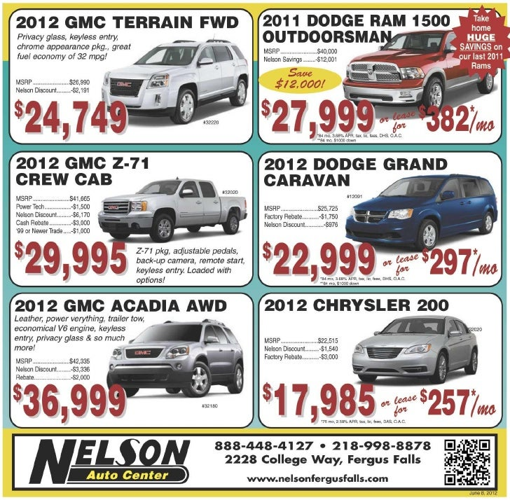 All-new 2012 Vehicles for sale at our Fargo car dealership | Nelson Auto Center