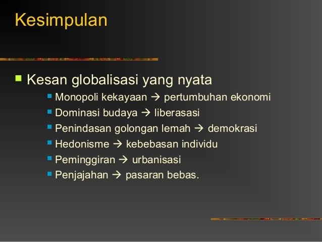 kesan globalisasi terhadap alam sekitar