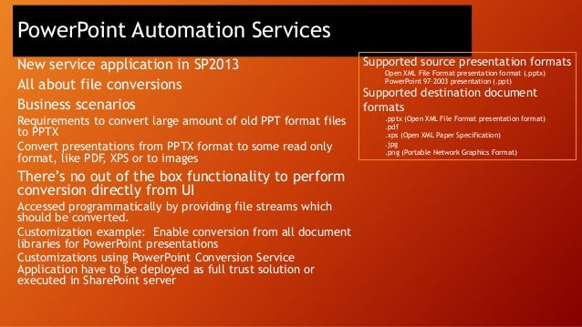 Customization packaging & deployment options Farm • Full trust solutions • Customizations to file system of servers • Host...