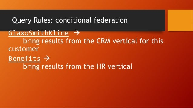 Result conditions and actions
