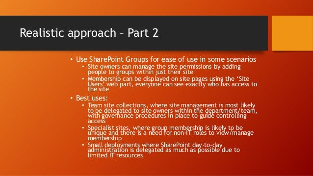 Default Groups Part 2 • The following are additional groups created for other site templates, specifically the Enterprise ...