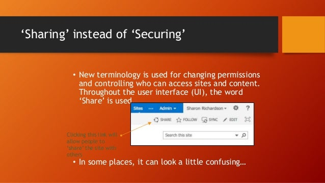 Default Permissions Part 2 Permission  Access granted  Notes/Comments  Contribute  Can add or change items on pages and in...
