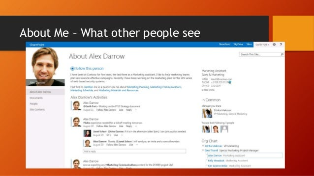  Available in Central Administration in the User Profile Service Application  Administrators govern profile information ...