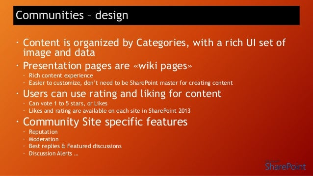• Latest activities from across SharePoint cached in-memory, so users can always see the latest activities when they go to...