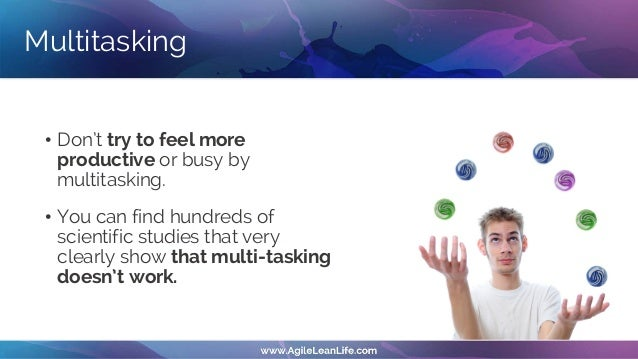 Important and urgent tasks • Unsuccessful people prioritize urgent tasks • Adrenaline • Easy accomplishments • Fake feelin...