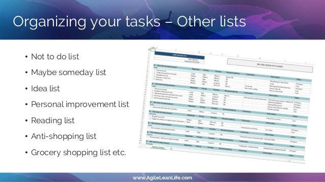 The time-boxing technique • You reserve certain hours of the day in your calendar for your important activities and compan...
