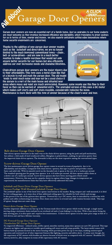 All About Garage Door Openers Infographics