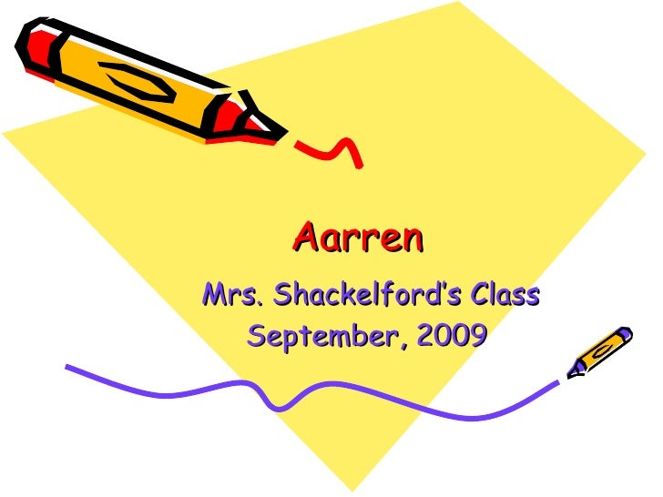 Aarren Mrs. Shackelford's Class September, 2009