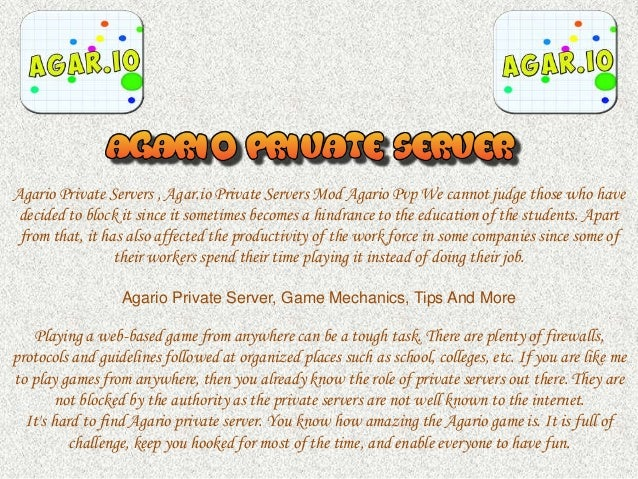 how to make a agario private server