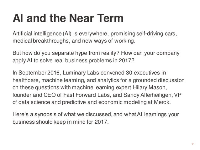 2 Artificial intelligence (AI) is everywhere, promising self-driving cars, medical breakthroughs, and new ways of working....
