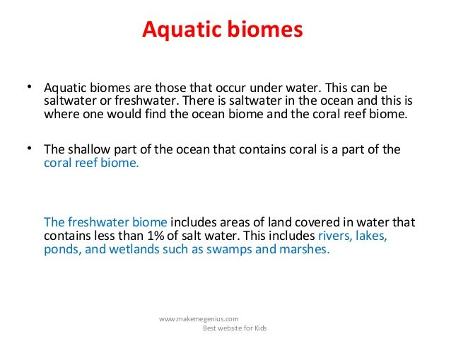 Biomes Facts