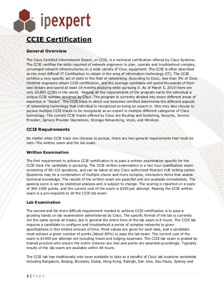 All About Ccie Certification