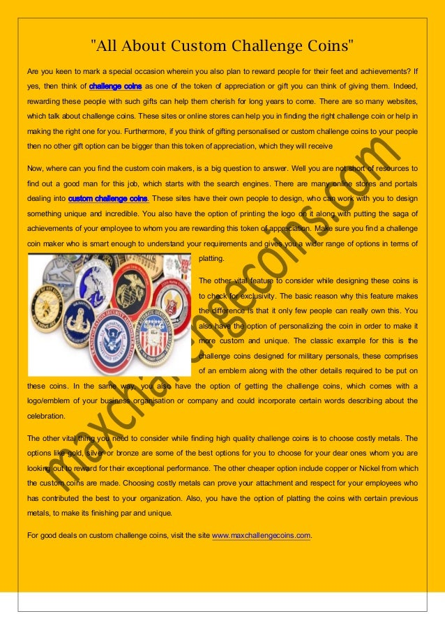 All about custom challenge coins new