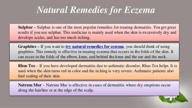 All About Eczema and Natural Remedies for Eczema