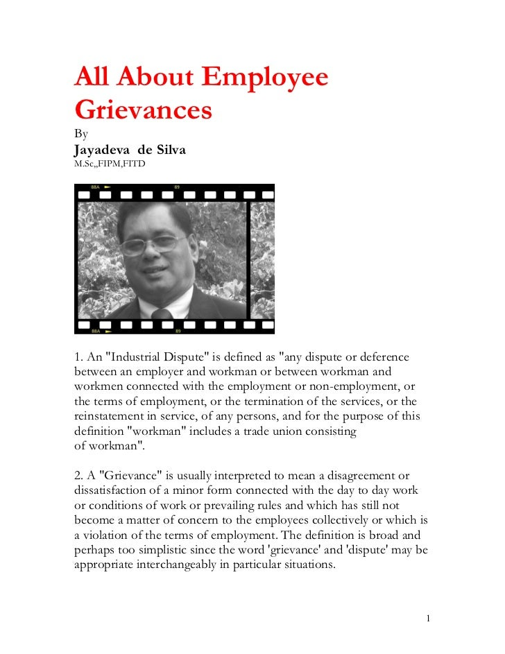 All about employees grievance handling