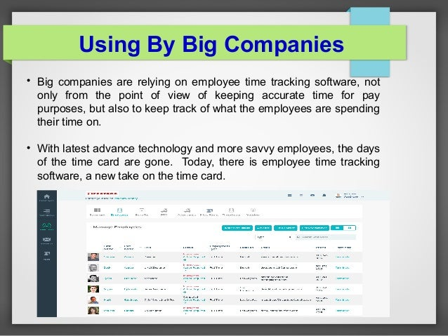 employee time tracking software for business