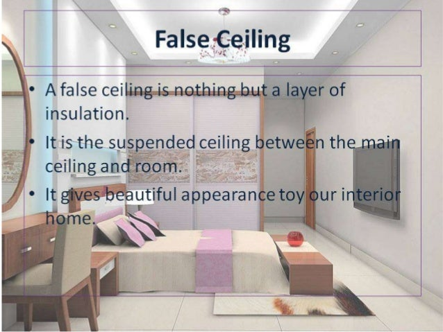 all about false ceiling and its types