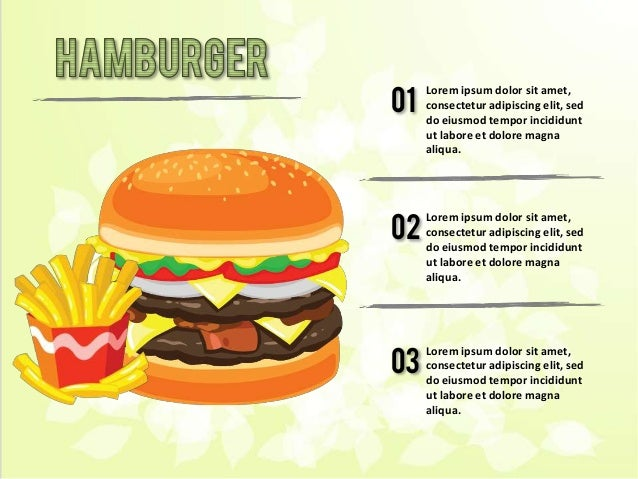 Free Junk Food Themed Powerpoint Template