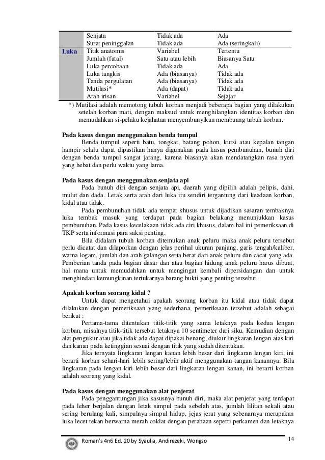 contoh laporan visum et repertum contoh soar