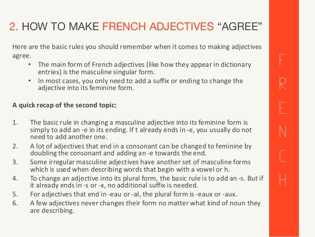 french adjectives that start with e adjectives adjectifs all about adjectives 26404 | french adjectives adjectifs all about french adjectives 4 638