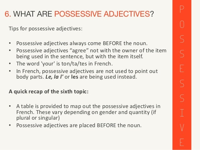 French Adjectives Adjectifs All About French Adjectives