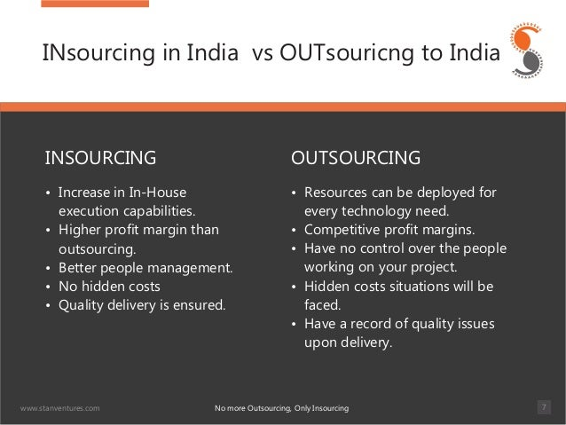 Outsourcing And Insourcing : All about insourcing
